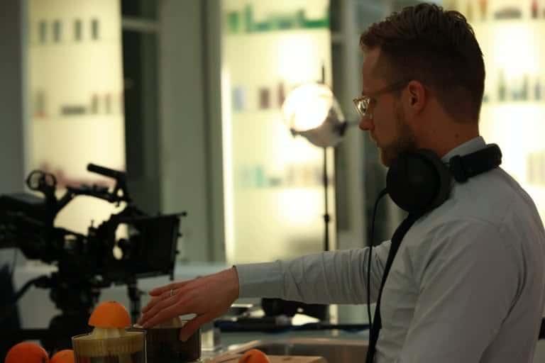 DJ Greg Oorange beim Videodreh