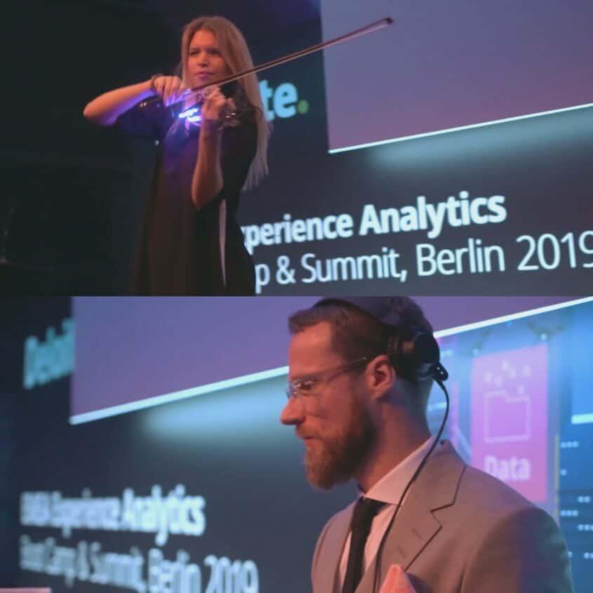 Event DJ plus Violinistin auf Summit in Berlin 2019